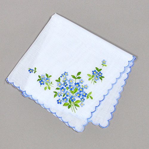 Bumblebee linens 100 warn reviewmeta forget me nots wedding something blue european handkerchief embroidery heirloom cotton ladies from bumblebee linens junglespirit Choice Image