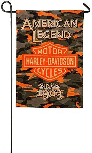 Harley-Davidson Camo Bar and Shield Burlap Garden -
