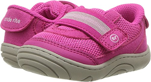 (Stride Rite Girls' SR-Jessie Sneaker, Pink 3.5 M US Infant)