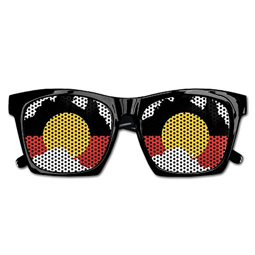 Elephant AN Themed Novelty Australian Aboriginal Flag Creative Visual Mesh Sunglasses Fun Props Party Favors Gift - Online Sunglasses Australian