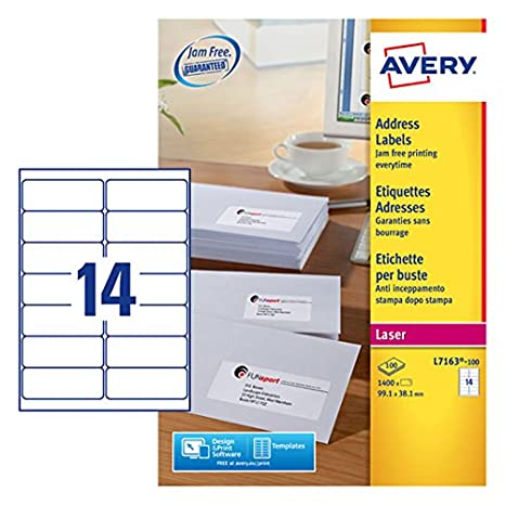 Amazon Avery Lsr Lbl Pk100 L7163 100 Fpc All Purpose Labels