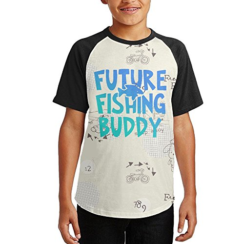 Daddy's Fishing Buddy Boys Summer Sleeve T-Shirt supplier