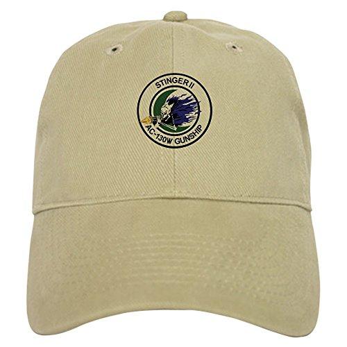 CafePress - AC-130W Stinger II - Baseball Cap with Adjustable Closure, Unique Printed Baseball Hat Khaki