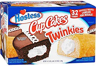 product image for Hostess Twinkies & Cupcakes (16 Twinkies & 16 Cupcakes), Individually Wrapped, 32 Total
