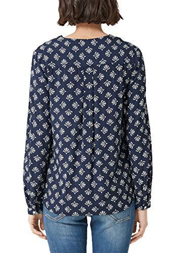 S Para oliver Blusa Azul 58c6 Print dark Blue Mujer Floral rnrEPxTW