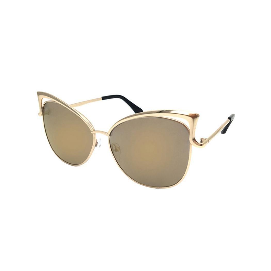 Vovotrade unisex Clear Lens Glasses Metal Spectacle Frame Myopia Sunglasses