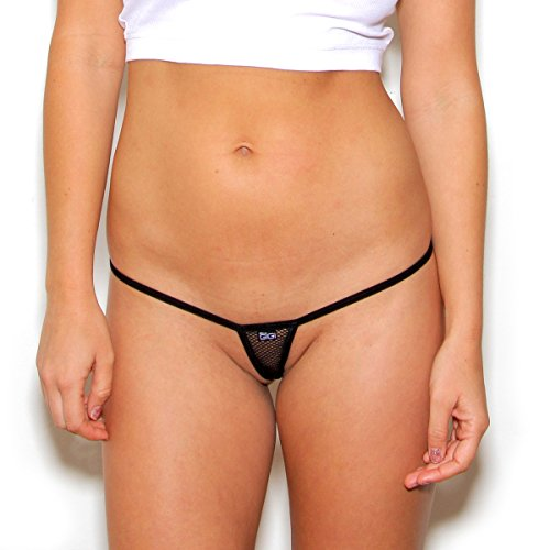 Extreme Fishnet Micro Thong G-String (M/L, Midnight (Micro String)