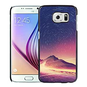 NEW Unique Custom Designed Samsung Galaxy S6 Phone Case With Star Circles Astrophotography_Black Phone Case