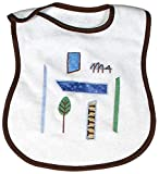 Raindrops Modern Eco Appliqued Bib, Blue