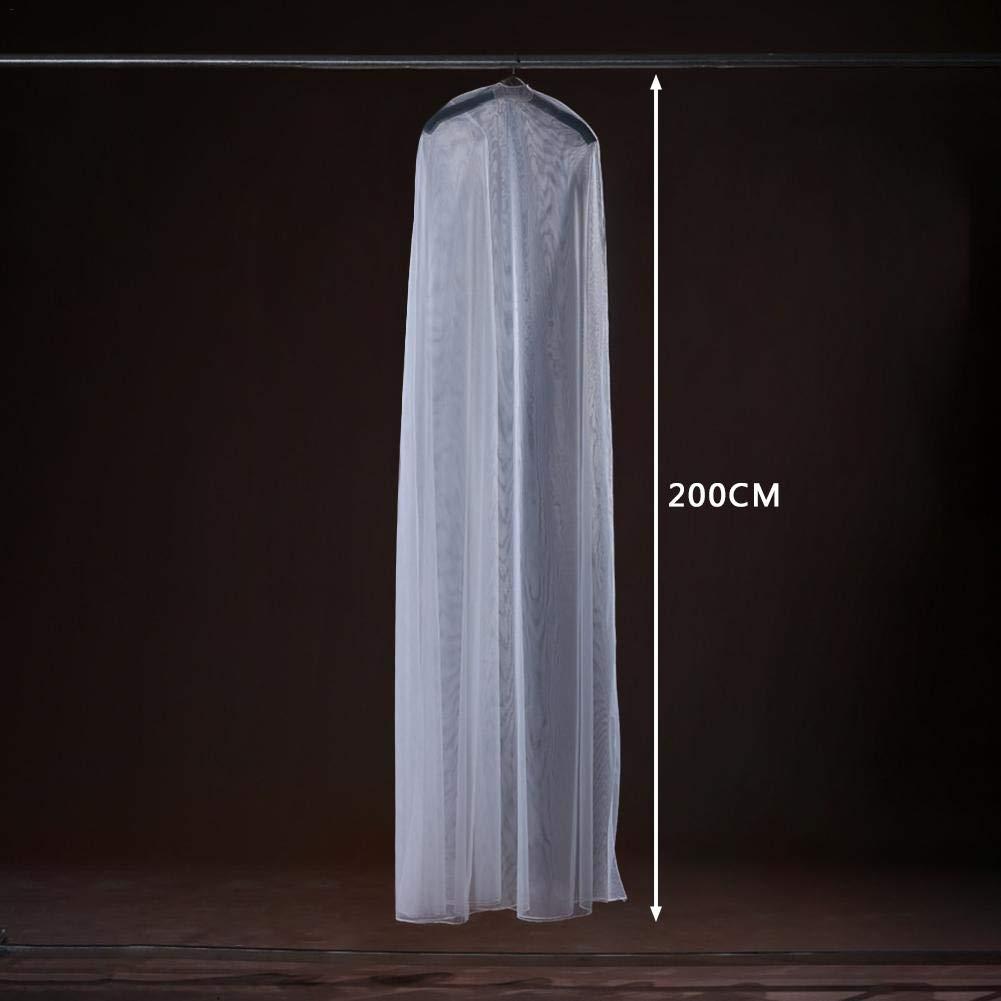 09820fb317d97 Rangement pour vêtements et penderies Housses de vêtements 120 cm)  Leo565Tom Housses de Vêtements Housse de Robe de Mariée Longue Transparent  ...