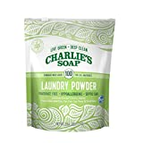 Charlie's Soap Laundry Powder (100 Loads, 1 Pack) Hypoallergenic Deep Cleaning Washing Powder Detergent - Eco-Friendly, Safe, and Effective