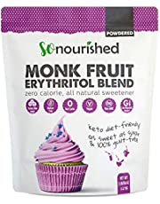Powdered Monk Fruit + Erythritol Sweetener Confectioners (2.24 Kg / 5 lb) - Perfect for Diabetics and Low Carb Dieters - 1:1 Sugar Replacement - No Calorie Sweetener, Non-GMO, Natural Sugar Substitute (2.24 Kilograms)