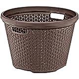 Wee's Beyond W08-1095-DK.Brw 30 L Dark Rattan Round Laundry Basket, Brown