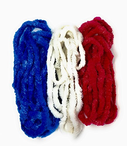 72 Bulk Patriotic Leis Assortment - Red, White, and Blue for a 4th of July Party, Picnic, Parade or Memorial Day -