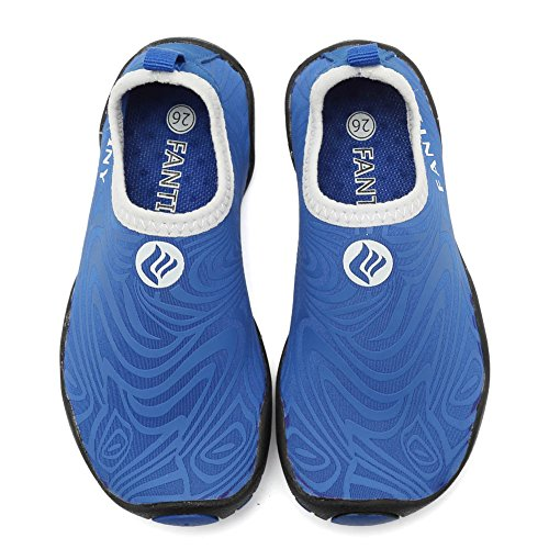 CIOR Kids Water Shoes Quick-Dry Boys and Girls Slip-on Aqua Beach Sneakers (Toddler/Little Kid/Big Kid),U118SSX006-Blue-25 by CIOR (Image #4)