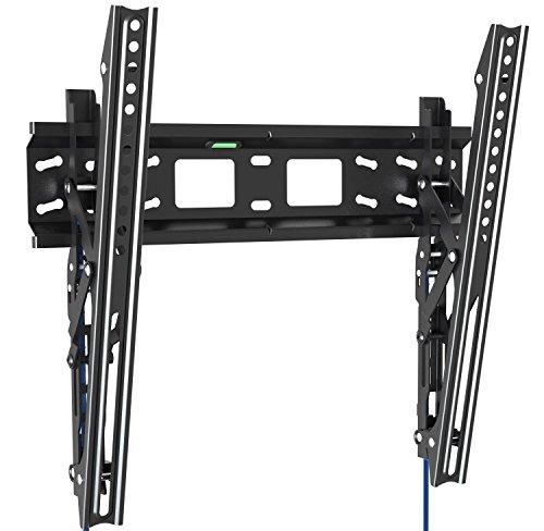 Invision® TV Wandhalterung Neigbar für 32 bis 55 Zoll (80cm - 139cm) 3D, LED, LCD-Bildschirme - Universal & Max. VESA 400 - *Bitte überprüfen Sie Ihre TV-VESA-Montagebohrungen vor Dem Kauf * (400-T)