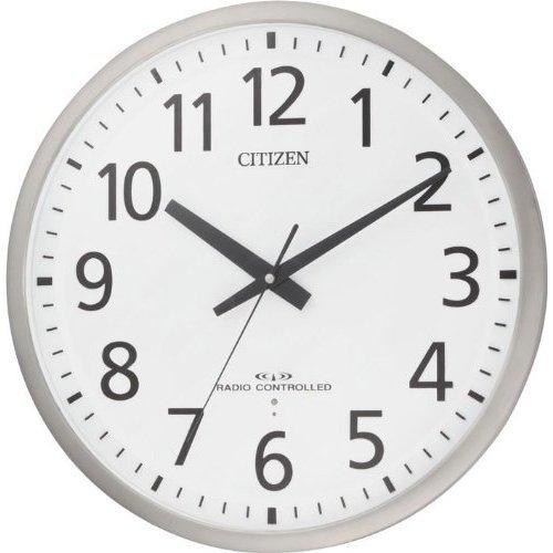 リズム時計[シチズン]スペイシーM465 大型サイズ(55cm)のオフィス用 電波掛け時計8MY465-019 シルバー銀アナログ B005KOCZ86