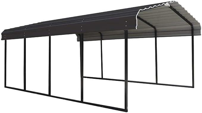 ShelterLogic Neapel - Carpa de acero para coche (3,7 x 6 m, resistente a la intemperie): Amazon.es: Jardín