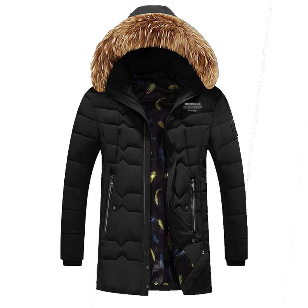 noir-3XL  GAOQQ Veste Chauffante en Graphène Intelligent pour Hommes, Manteau Chaud pour Température Réglable De ChargeHommest USB,noir-2XL