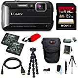 Panasonic DMC-TS30K LUMIX Tough Camera (Black) +32GB U3 SDHC + 2 Extra Batteries