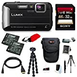 Cheap Panasonic DMC-TS30K LUMIX Tough Camera (Black) +32GB U3 SDHC + 2 Extra Batteries