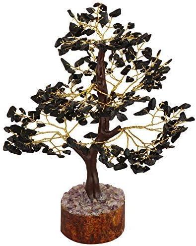 Cartbug Black Tourmaline Gemstone Bonsai Money Tree Crystal Cleansing Reiki Healing Feng Shui Prosperity Stones /& Crystals Positive Energy Gem Figurines Good Luck Chakra Balancing 10 Inch Golden Wire