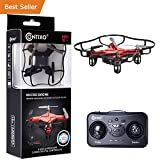 HOLIDAY SPECIAL! Contixo F2 Mini Pocket Drone 4CH 6 Axis Gyro RC Micro Quadcopter with 3D Flip, Intelligent Fixed Altitude (Red) - Best Gift For Christmas