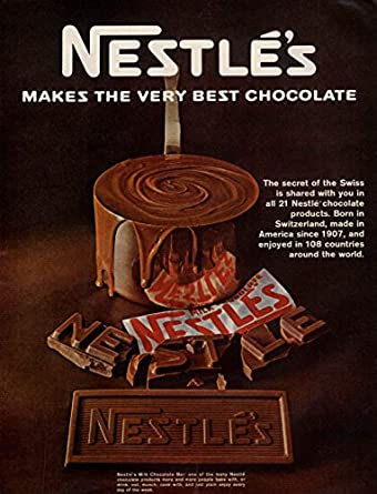 Nestle S Makes The Very Best Chocolate Candy Bar Ad 1967 L At