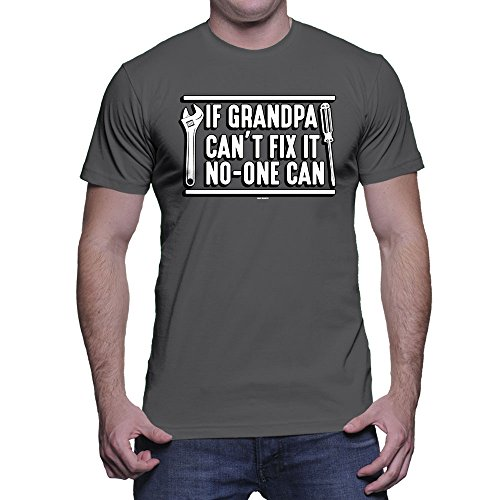 HAASE UNLIMITED Mens If Grandpa Can't Fix It No-One Can - Father's Day Gift T-Shirt (Large, (Match Day Shirt)