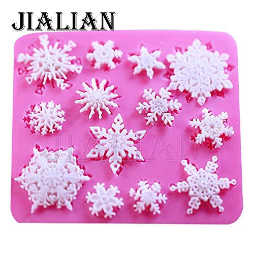 1 piece 3D christmas decorations snowflake Lace chocolate