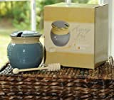 Tumbleweed Pottery Light Blue Ceramic Honey Pot Jar