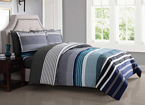 London Fog BIB1585BLX-3200 Complete Bed Ensemble, Twin XL, Blue ()