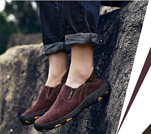 Zapatos de hombre Zapatos de deporte Zapatos de hombre Zapatos de exterior Zapatos de senderismo Zapatos antideslizantes transpirables Dark Brown
