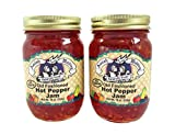 Amish Wedding Foods Old Fashioned Hot Pepper Jam All Natural 2 - 18 oz. Jars