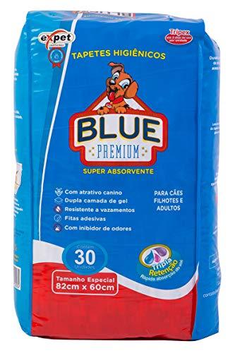 Tapete Higiênico para Cães Blue Premium 30 Unidades