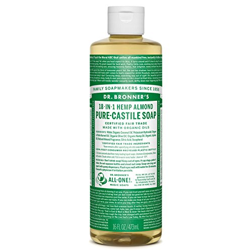 - Dr. Bronner's Organic Pure Castile Liquid Soap - Almond Oil - 16 oz