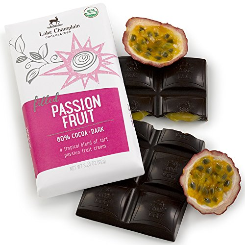 CDM product Lake Champlain Chocolates Chocolate Bar, Passion Fruit, 3.25 Ounce (Pack of 10) small thumbnail image