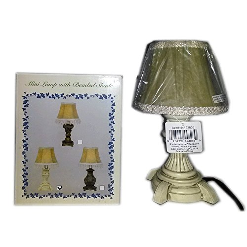 Mini Lamp With Beaded Shade (Beaded Mini Shade)