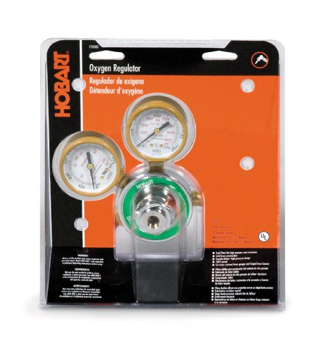 Hobart 770503 CGA-540 Medium Duty Oxygen Regulator and Gauges by Hobart