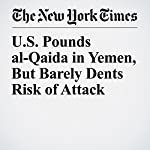 U.S. Pounds al-Qaida in Yemen, But Barely Dents Risk of Attack | Eric Schmitt,Saeed Al Batati