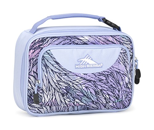 High Sierra Single Compartment Lunch Bag, Feather Spectre/Powder Blue (Sierra Supply)