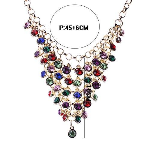 Horseshoe Toggle Watch (HeyGirl Fashion Palace Retro Luxury Diamond Long Triangle Beaded Tassel Necklace Resin Crystal Jewelry)