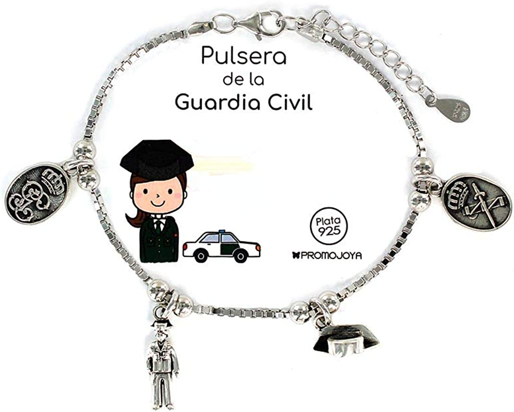 Promojoya Pulsera Eres lo mas Guardia Civil con Colgantes: Amazon ...