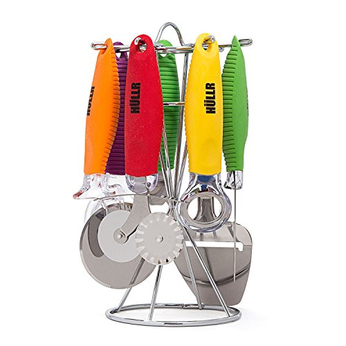 Stainless Steel Kitchen Gadgets Tools Set 8 Pcs Rotating Sta