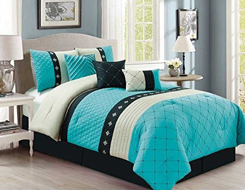 California Quilted Bedding Turquoise Comforter product image