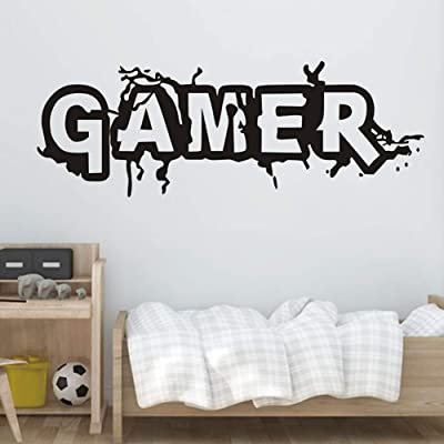 856store Wall Stickers & Murals Home Décor,Wall Sticker Removable Gamer Decal Mural Home Bedroom Living Room DIY Decor,Removable Mural Paper: Baby