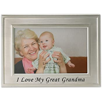 lawrence frames brushed metal 4 by 6 inch i love my great grandma picture frame sentiments collection