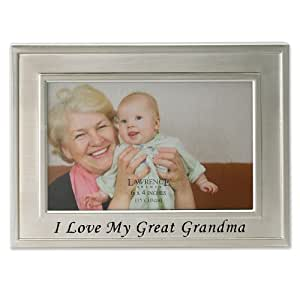 Lawrence Frames Brushed Metal 4 by 6-Inch I Love My Great Grandma Picture Frame, Sentiments Collection