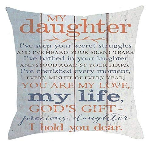 Pillowcase shop Life Sentiment Frases mi Hija I Hold You ...