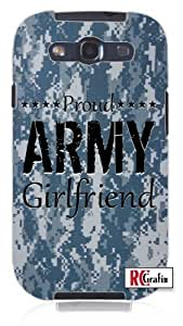 Cool Painting Military Proud Army Girlfriend Digital Camo Blue Camouflage Unique Quality Hard Snap On Case for Samsung Galaxy S4 I9500 - White Case